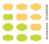 set of vintage stickers border... | Shutterstock .eps vector #251589046