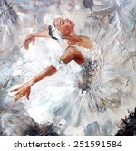 Oil Painting  Girl Ballerina....