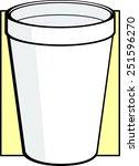 polystyrene cup | Shutterstock .eps vector #251596270