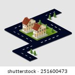a set   images of traffic... | Shutterstock . vector #251600473