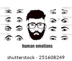 description of human emotions... | Shutterstock .eps vector #251608249