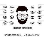 description of human emotions... | Shutterstock .eps vector #251608249