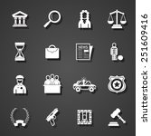 law icons set | Shutterstock .eps vector #251609416
