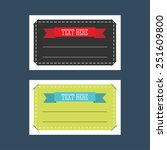 set of rectangular tags with... | Shutterstock .eps vector #251609800