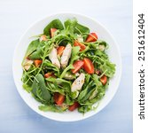 fresh salad with chicken ... | Shutterstock . vector #251612404