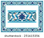 ottoman islamic ceramic floral...   Shutterstock .eps vector #251615356