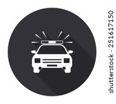 police car icon with long... | Shutterstock .eps vector #251617150