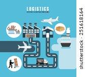 transport logistics design ...   Shutterstock .eps vector #251618164