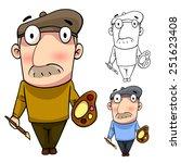 old artist vector art and... | Shutterstock .eps vector #251623408