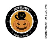 abstract halloween object on a... | Shutterstock .eps vector #251623498