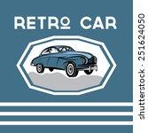 retro car old vintage poster | Shutterstock .eps vector #251624050
