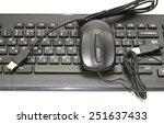 computer keyboard black | Shutterstock . vector #251637433