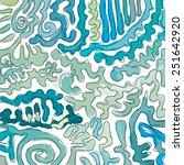 hand drawn blue scrolls | Shutterstock .eps vector #251642920