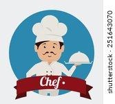 chef design over white...   Shutterstock .eps vector #251643070