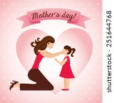 happy mothers day design ... | Shutterstock .eps vector #251644768