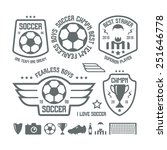 set of soccer emblems and icons.... | Shutterstock .eps vector #251646778