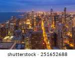 chicago downtown skyline at... | Shutterstock . vector #251652688