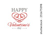 happy valentines day poster.... | Shutterstock .eps vector #251675398