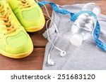 sport shoes and clothes on... | Shutterstock . vector #251683120