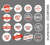 set of vector sales labels and... | Shutterstock .eps vector #251684386