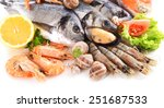 fresh fish and other seafood... | Shutterstock . vector #251687533