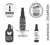 vintage craft beer brewery... | Shutterstock .eps vector #251689264