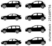 cars silhouette set... | Shutterstock . vector #251689756