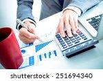 businessman analyzing... | Shutterstock . vector #251694340