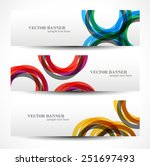 set banner abstract... | Shutterstock .eps vector #251697493