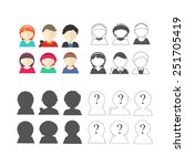 set of character avatars | Shutterstock .eps vector #251705419