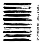 set of grunge brush strokes.... | Shutterstock .eps vector #251714368