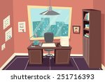 stylish business working office ... | Shutterstock .eps vector #251716393