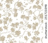 seamless floral vector pattern... | Shutterstock .eps vector #251723398