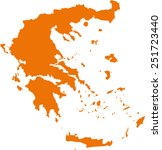 map of greece | Shutterstock .eps vector #251723440
