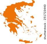 map of greece | Shutterstock .eps vector #251723440