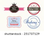 bakery vector label | Shutterstock .eps vector #251737129