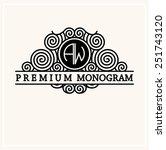 stylish  graceful monogram  ... | Shutterstock .eps vector #251743120