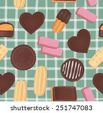 seamless pattern with various... | Shutterstock .eps vector #251747083