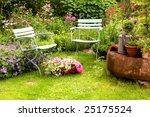Stock photo still life in german house garden 25175524