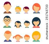 family vector icons | Shutterstock .eps vector #251763733
