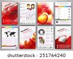 valentine's day vector set of... | Shutterstock .eps vector #251764240