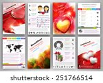 valentine's day vector set of... | Shutterstock .eps vector #251766514