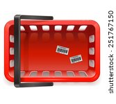 vector shopping basket | Shutterstock .eps vector #251767150