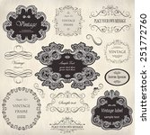 vector set  calligraphic design ... | Shutterstock .eps vector #251772760