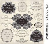 vector set  calligraphic design ... | Shutterstock .eps vector #251772760
