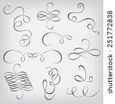 vector set of calligraphic... | Shutterstock .eps vector #251772838