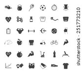 set  of fitness icons.  | Shutterstock .eps vector #251773210
