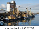 trawlers moored in the dutch
