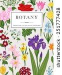 botany. vintage floral card.... | Shutterstock .eps vector #251777428