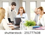 business colleagues working on... | Shutterstock . vector #251777638